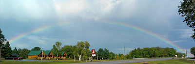 Rainbow over Hillcrest Cabins